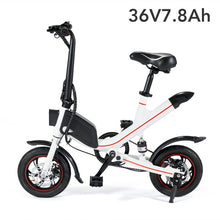 Load image into Gallery viewer, Janobike Folding Adults Electric Bicycle Lithium Battery Moped Mini E Bike - eRider.com.au