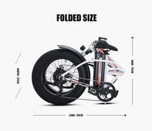 Load image into Gallery viewer, Sheng milo Electric Bicycle 500W 4.0 Fat Tire 48v 15AH lithium battery electric folding bike - eRider