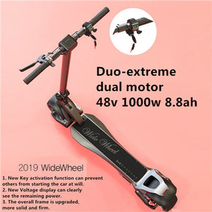 Mercane WideWheel Kickscooter 500W / 1000W Foldable Smart Electric Scooter Dual Motor - eRider