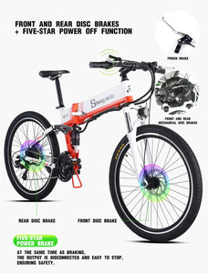 Sheng milo 26 inch folding electric mountain bicycle on-road & off-road - eRider
