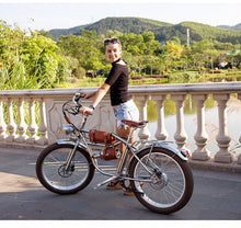 "Load image into Gallery viewer, Sheng milo 24"" Fat Tyres Electric Bike 500W Beach Retro Bike Cruiser Classic Vintage - eRider"