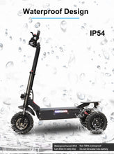 "Load image into Gallery viewer, JueShuai (JS) 80KM/H Foldable Electric Scooter Powerful 3x1600W Motor 11"" Three Motor Wheel Samsung 42AH - eRider.com.au"