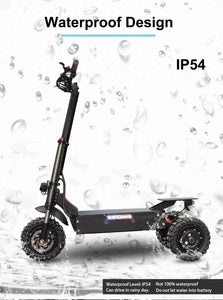 "JueShuai (JS) 80KM/H Foldable Electric Scooter Powerful 3x1600W Motor 11"" Three Motor Wheel Samsung 42AH - eRider.com.au"