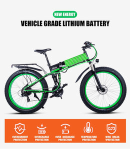 Sheng milo Electric Bicycle 1000W 4.0 26inch Fat Tire 48V Mountain Snow Bicycle - eRider