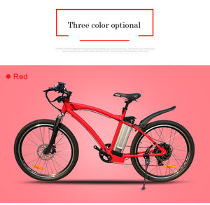 "JueShuai (JS) MTB 48V 500W Electric Mountain Bicycle 48V 12ah Lithium Battery 26"" Tyre 2.125 - eRider.com.au"