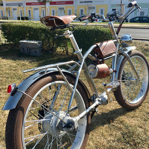 "Sheng milo 24"" Fat Tyres Electric Bike 500W Beach Retro Bike Cruiser Classic Vintage - eRider"