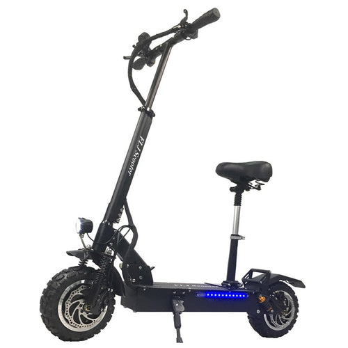 FLJ T113 Adult Electric Scooter with 60V/3200W Strong Power Kick Scooter Fat Tire big wheel with Oil Brake - eRider.com.au
