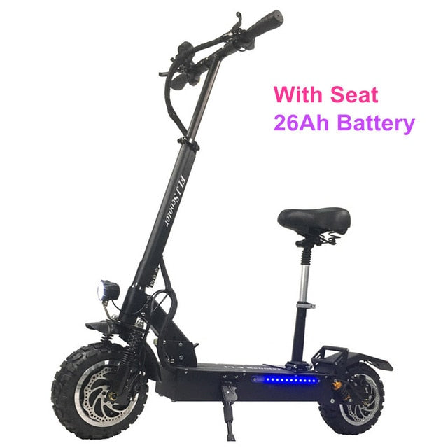 FLJ Adult Electric Scooter with 60V/3200W Strong Power Kick Scooter Fat Tire big wheel with Oil Brake - eRider
