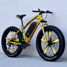 Load image into Gallery viewer, HRTC 26inch snow electric mountain bicycle 48V lithium battery 1000w motor fat ebike 4.0 tires high speed brushless electric bike - eRider