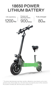 Janobike Folding Electric Scooter Double Motor 52V/2000W 10 inch Road Tire - eRider.com.au