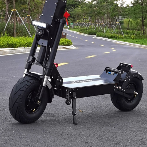 FLJ K6 13inch Fat Wheel Electric Scooter with 90-150kms 6000W Range Dual Engine 40Ah or 50AH Panasonic Battery - eRider.com.au