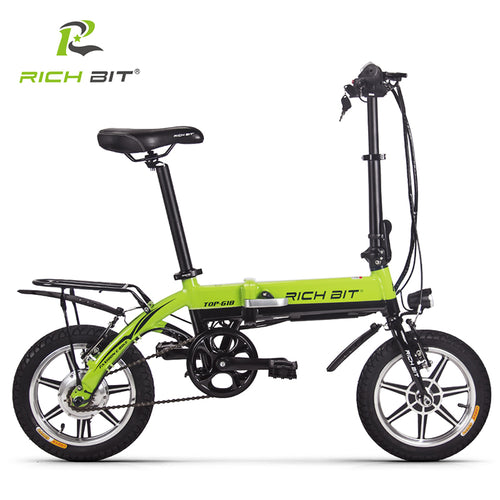 RichBit Mini Folding Electric Bike 36V 250W Lithium Battery Electric Bicycle Folding Electric Mountain Bike With 10.2Ah Battery - eRider