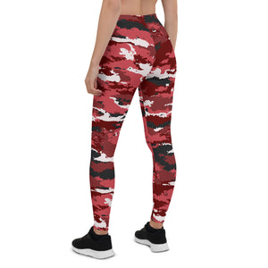 Red Camo Pants for Women