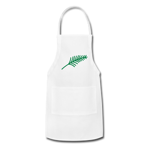 Harshtag Leaf Adjustable Apron - white