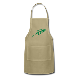 Harshtag Leaf Adjustable Apron - khaki