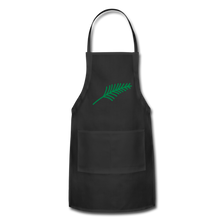 Load image into Gallery viewer, Harshtag Leaf Adjustable Apron - black
