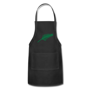 Harshtag Leaf Adjustable Apron - black