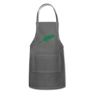 Harshtag Leaf Adjustable Apron - charcoal