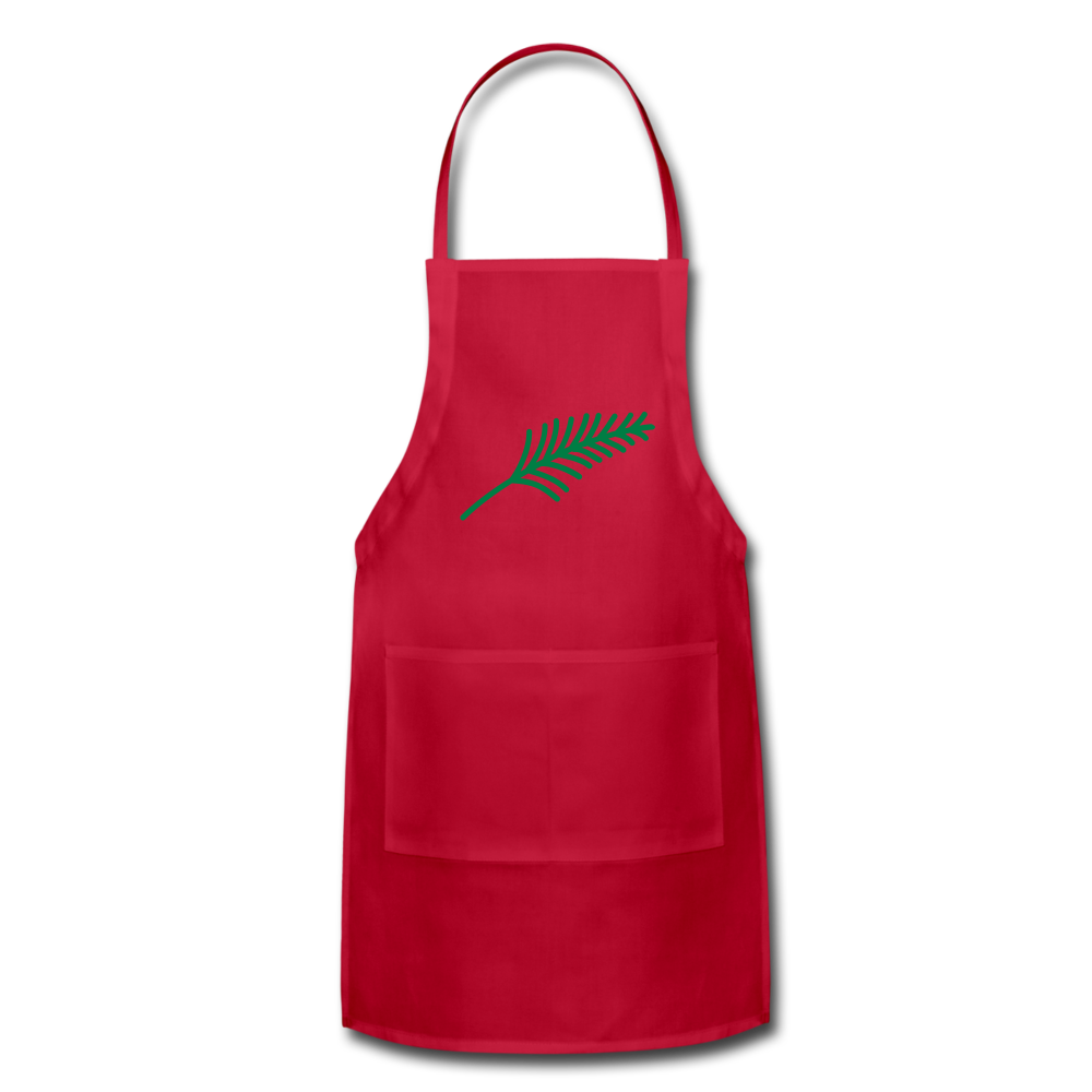 Harshtag Leaf Adjustable Apron - red