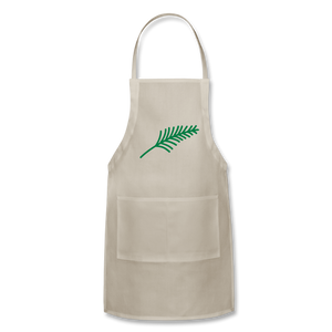Harshtag Leaf Adjustable Apron - natural