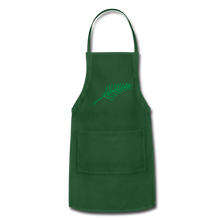 Load image into Gallery viewer, Harshtag Leaf Adjustable Apron - forest green