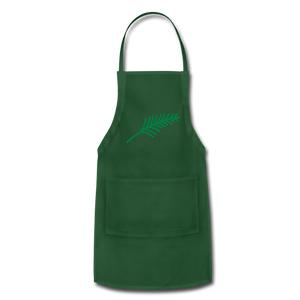 Harshtag Leaf Adjustable Apron - forest green