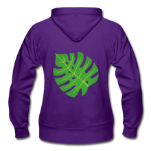 Load image into Gallery viewer, Philodendron Leaf Heavy Blend Women's Zip Hoodie - purple