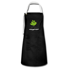 Load image into Gallery viewer, Single Plant Growth Artisan Apron - black/white