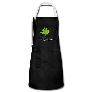 Single Plant Growth Artisan Apron - black/white