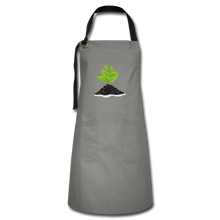Load image into Gallery viewer, Single Plant Growth Artisan Apron - gray/black