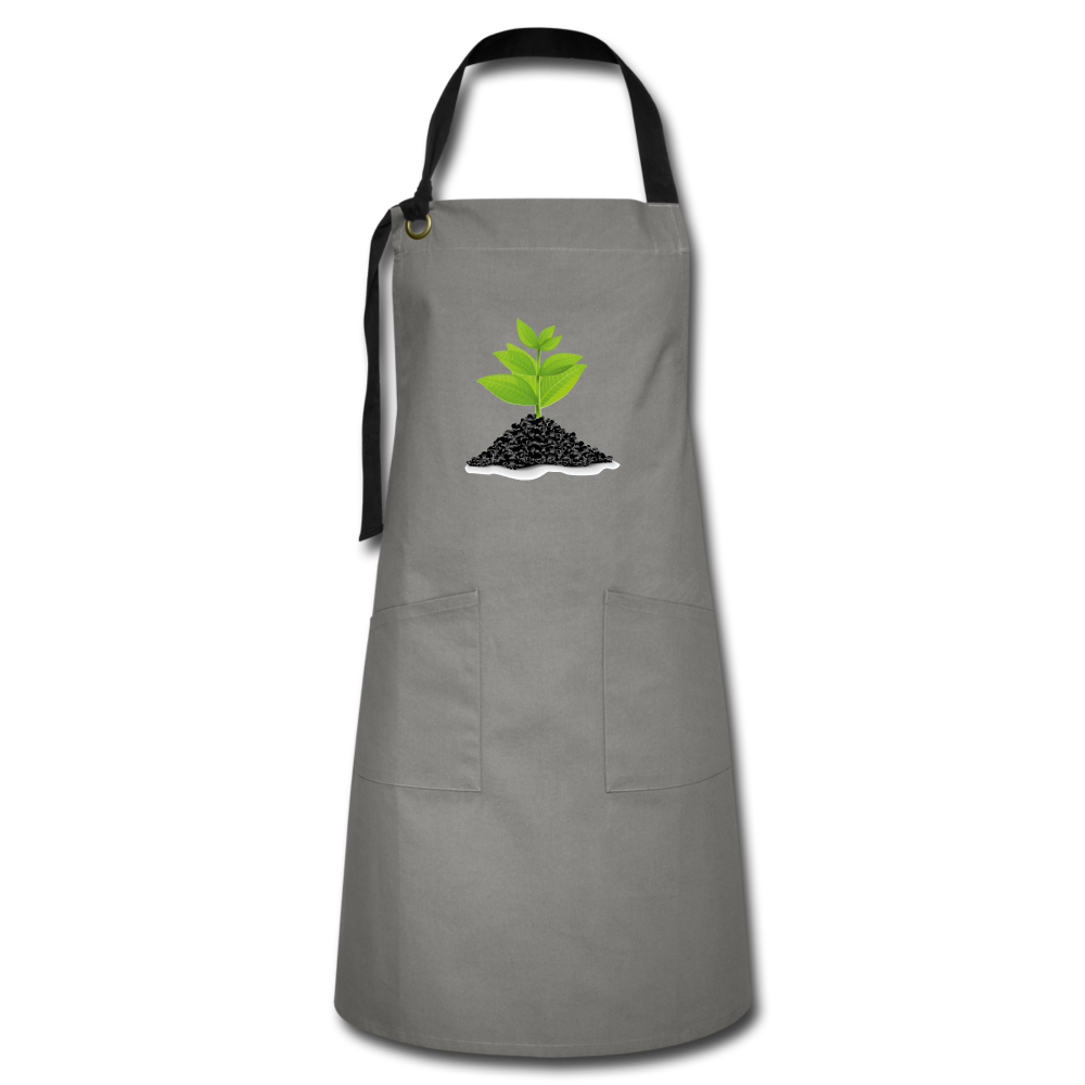 Single Plant Growth Artisan Apron - gray/black