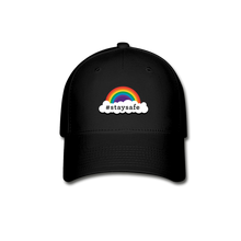 Load image into Gallery viewer, Stay safe Baseball Cap - black