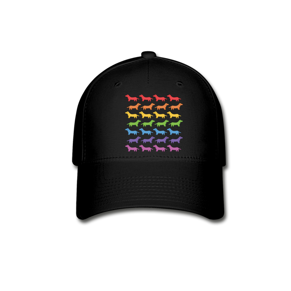 Dogs Baseball Cap - black