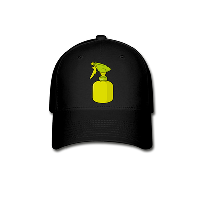 Spray Bottle Baseball Cap - black