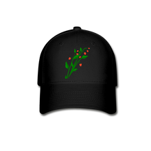 Load image into Gallery viewer, Raspberry Bush Baseball Cap - black