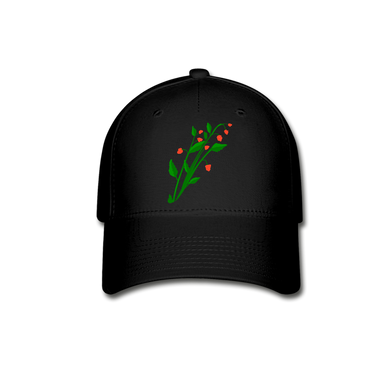 Raspberry Bush Baseball Cap - black