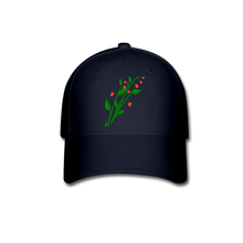 Load image into Gallery viewer, Raspberry Bush Baseball Cap - navy