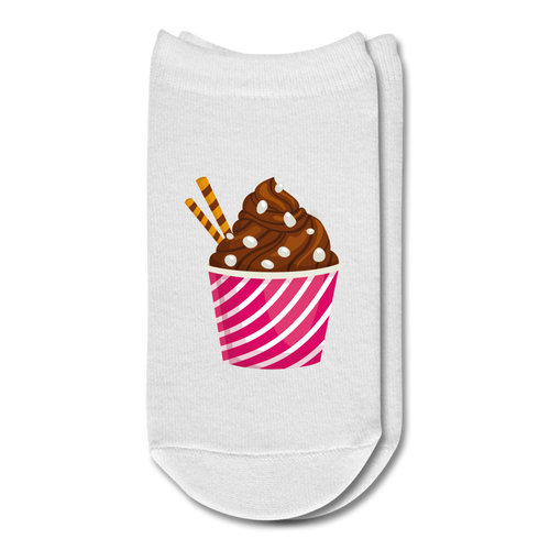Ice Cream Ankle Socks - white