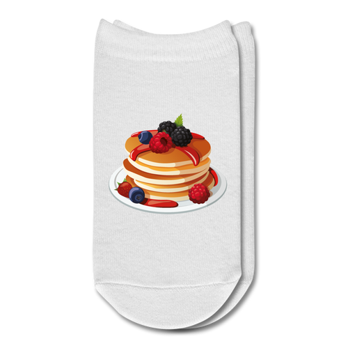 Breakfast Pancakes Ankle Socks - white
