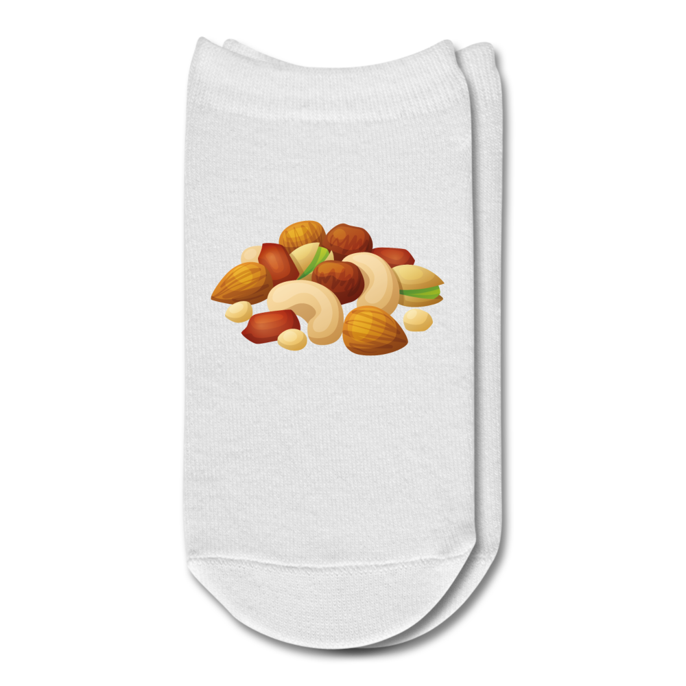 Pile of Nuts Ankle Socks - white