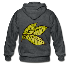 Load image into Gallery viewer, Organic Bay Leaves Heavy Blend Adult Zip Hoodie - deep heather