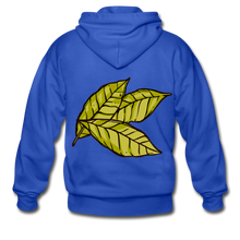 Load image into Gallery viewer, Organic Bay Leaves Heavy Blend Adult Zip Hoodie - royal blue