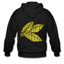 Load image into Gallery viewer, Organic Bay Leaves Heavy Blend Adult Zip Hoodie - black