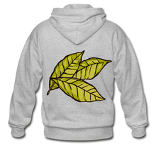 Load image into Gallery viewer, Organic Bay Leaves Heavy Blend Adult Zip Hoodie - heather gray
