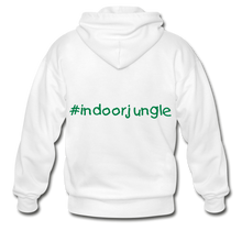 Load image into Gallery viewer, Indoor jungle Heavy Blend Adult Zip Hoodie - white