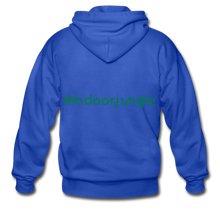 Load image into Gallery viewer, Indoor jungle Heavy Blend Adult Zip Hoodie - royal blue