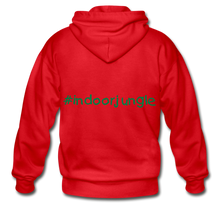 Load image into Gallery viewer, Indoor jungle Heavy Blend Adult Zip Hoodie - red