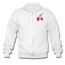 Load image into Gallery viewer, Rosehips Heavy Blend Adult Zip Hoodie - white