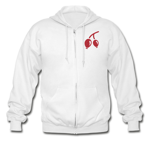 Rosehips Heavy Blend Adult Zip Hoodie - white