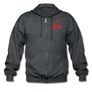 Rosehips Heavy Blend Adult Zip Hoodie - deep heather